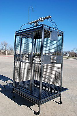 "Extra Large 36""Wx28""x68""H Parrot Macaw Cockatoo African Grey Amazon Iron Cage"
