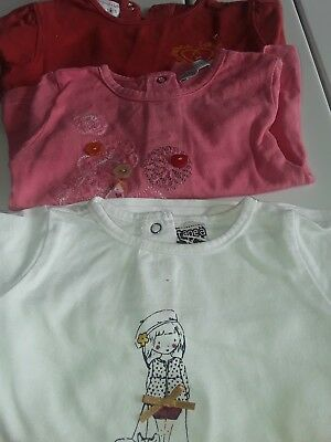 tee shirts manches longues bebe fille 9 mois