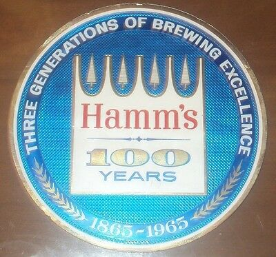 Rare vintage 100th anniversary hamms beer foil decal