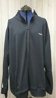 Nautica Competition  Navy Blue with White Stripes Zip Up  Jacket Coat Men's 3XL