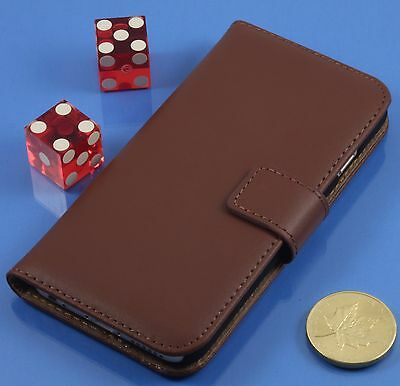 """Genuine Leather Wallet Stand Case Cover for Apple iPhone 7 4.7"""" Brown"""