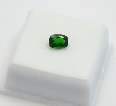 Russian Chrome Diopside 1.20ct+ 8x6mm - Cushion Loose Gemstone