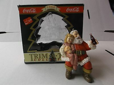 Coca-Cola Trim A Tree Collection Ornament 1964 Santa With Girl On His Lap 1994