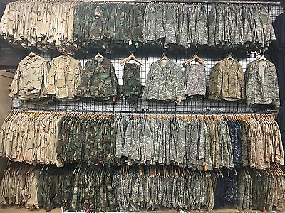 Military Pants Tops Battle Shirt Bdu Acu Dcu Desert Digital Used