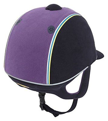 Harry Hall leyenda Plus PAS015 equitación, color  - Navy/Purple, tamaño 55 cm
