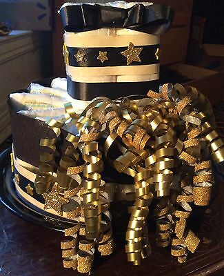 One tier black/gold unisex Baby Shower Centerpiece
