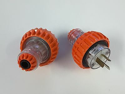 2 X NEW CLIPSAL 20A WEATHERPROOF PLUG 56P320F SINGLE PHASE IP66 gpo /power point