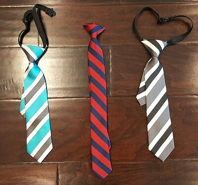 BOY'S PRE-TIED -  Lot of 3 NECK TIES  FOR AGES 2 -4 YEARS