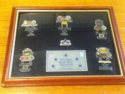 Coca cola Dallas Cowboys Five Time Superbowl Champs Commemorative Pin Collection