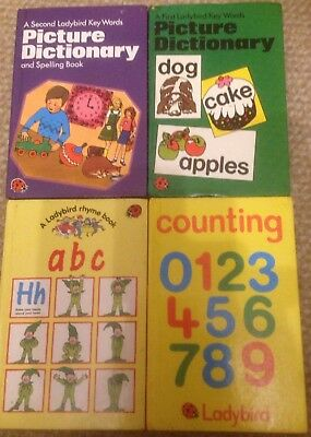 Ladybird Books Picture Dictionary Early Years Children Numbers