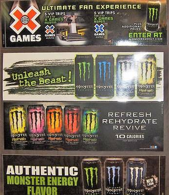 Monster Energy Bumper Stickers~Lot Of 4~Different Events Or Avertising