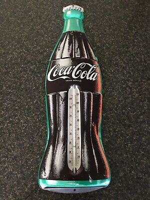 ORIGINAL Embossed Coca Cola 29 Inch Thermometer - 1950's