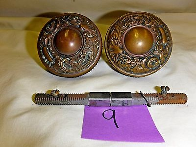 Antique Brass Doorknob Set from the Kansas State Capital Building