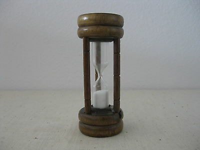 Vintage Wood Hourglass White Sand 3-minute Kitchen Timer