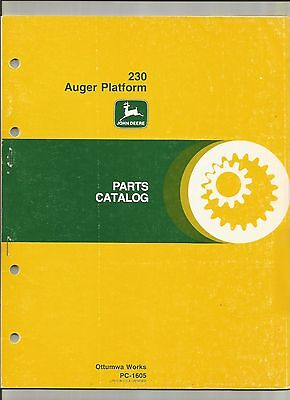 John Deere USED PC-1605--230 Auger Platform Parts Catalog