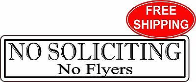 no soliciting no flyers sign office 10 colors engraved 8 95