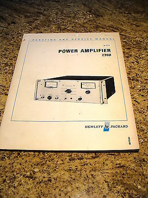 Agilent/ HP 230B Power Amplifier Operating and Service Manual 00230-90001