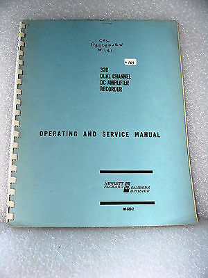 Agilent / HP 320 Dual Channel Dc Amplifier Recorder Operating & Service Manual