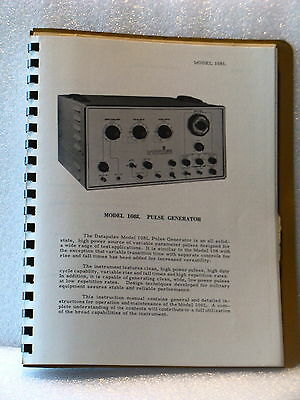 Systron Donner 108L Pulse Generator - Instruction and Maintenance Manual