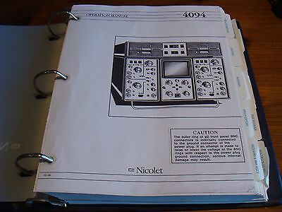 Nicolet 4094 Oscilloscope Operation Manual
