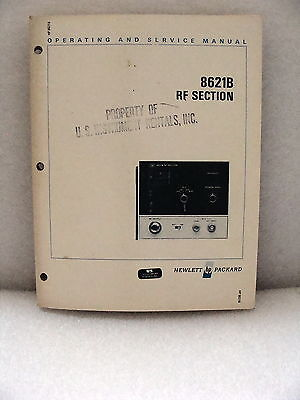Agilent / HP 8621B RF Section Operating and Service Manual; 08621-90034