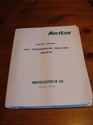 Anritsu ME462B DS-3 Transmission Analyzer Service Manual
