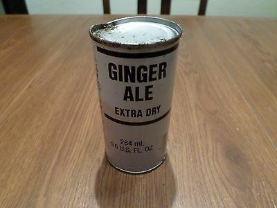 Vintage Generic Ginger Ale Canada 9.6 oz Flat Top Steel Soda Pop Can