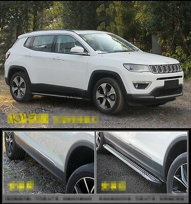 fit for JEEP all new Compass 2017 Aluminium running board side step nerf bar