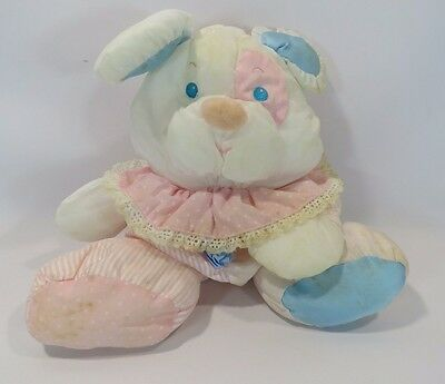 Fisher Price Puffalump Rattle Puppy Dog Bunny Pink Blue 1988 Vintage JH
