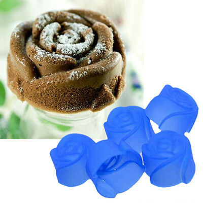 5pcs Home Silicone Rose Muffin Cup Cake Baking Mold Chocolate Jelly Maker Mould