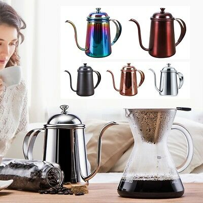 650ml Stainless Steel Gooseneck Kettle Pour Over Coffee Tea Hand Drip Pot New