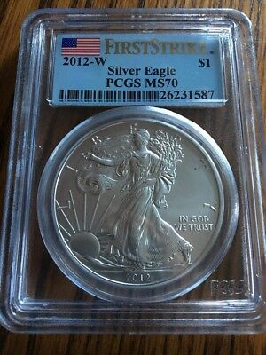 2012 W Burnished Ms 70 Pcgs First Strikes American Silver Eagle