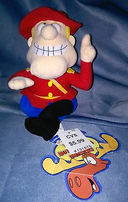 """DUDLEY DO-RIGHT CANADIAN MOUNTIE 8"""" PLUSH BEAN BAG From Rockie & Bullwinkle    H"""