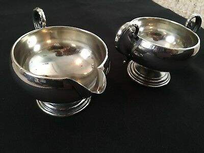 Frank M. Whiting & Co Vintage Sterling Silver Cream & Sugar Set 1785