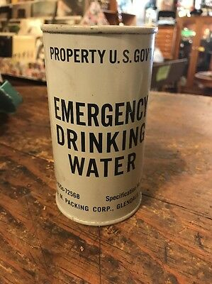 1960's Civil Defense Emergency Drinking Water From Bomb Shelter