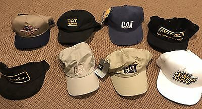 Rare Mens Cat Caterpillar Hat Lot Of 8 Vintage Some W Tags Some SnapBack