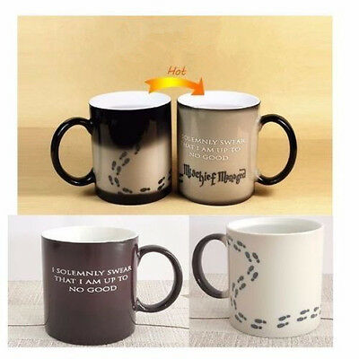 Harry Potter Mug Heat Sensitive Color Changing Cup I Solemnly Swear Mischief @@$