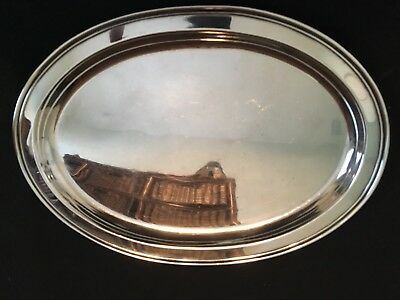 FISHER Vintage Sterling Silver Oval Tray 2212
