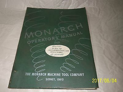 "Monarch  10"" EE  Precision Manufracturing Lathe Operators Manual"