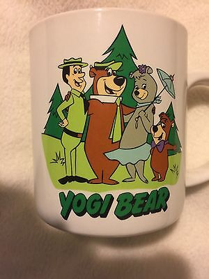 Yogi Bear Coffee Cup Mug Cindy Boo Boo Bear Ranger Smith 8 Oz