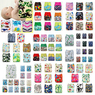 Baby Printed Pocket Nappy Washable Reusable Cloth Diaper Wrap Urine Pad