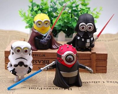 Star Wars Despicable Me Minions Action Figure Toys Figurine Collection 4PCS New