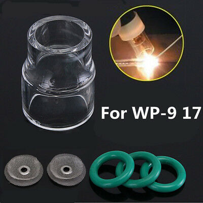 6pcs #12 Pyrex Cup + Filter TIG Welding Torch Gas Saver for WP-9 17 18 Gas Lens