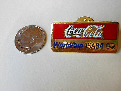 """Coca Cola World Cup USA '94"" PIN Lapel Collectible Vtg. 91 / '92 Soccer"