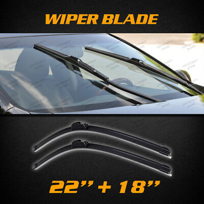 Pair NEW Windscreen Wiper Blades Suit for Holden Colorado RC 2012-2016