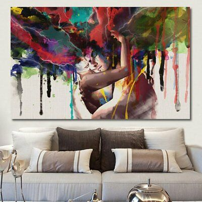 Canvas Print Room Wall Art Pictures Home Decor Abstract Couple Painting Framed