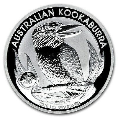 Australia $ 1 Kookaburra Dragon Privy 2012 1 oz .999 Silver Coin