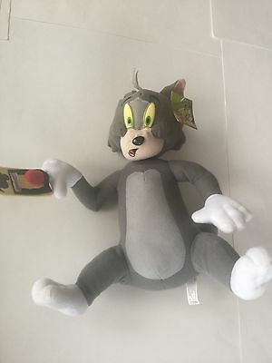 "Hanna Barbera TOM and Jerry Plush 12"" Cat Stuffed Animal Mouse Trap"