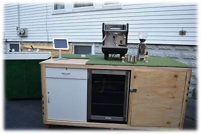 Espresso/Coffee Cart/Kiosk with Espresso Machine, Grinder, Refrigeration & Sink