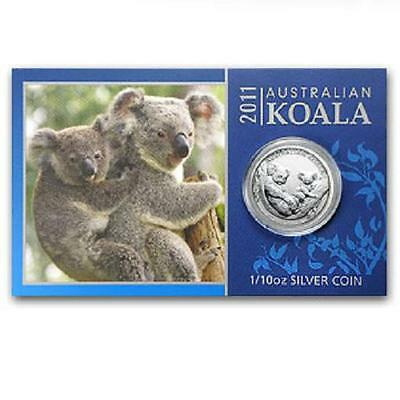 Perth Mint Australia $ 0.1 Koala 2011 1/10 oz .999 Silver Coin (w/Display card)